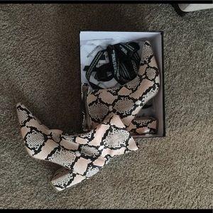 Faux Snakeskin booties